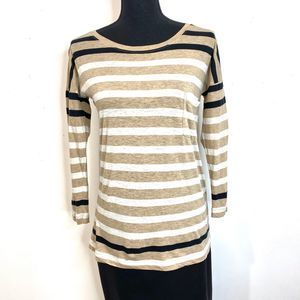 Madewell Long Sleeve Striped Blouse XS